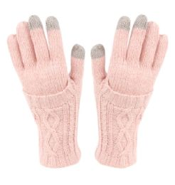 12 of Double Layer Knit Gloves With Screen Touch In Assorted Color