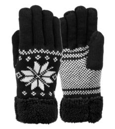 12 of Mens Snowflake Winter Knit Glove With Touch Screen