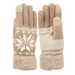 12 of Ladies Snowflake Winter Knit Glove With Touch Screen