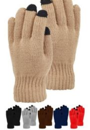 48 of Mens Heavy Knit Glove With Screen Touch In Black