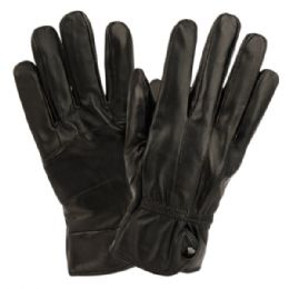 12 of Ladies Genuine Leather Gloves With Faux Fur Lining And Button Adjust Cuff