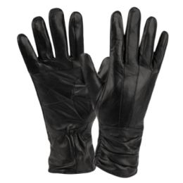 12 of Ladies Genuine Leather Gloves With Faux Fur Lining