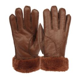 12 of Ladies Faux Fur Leather Winter Glove With Fur And Cuff Lining