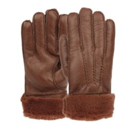 12 of Mens Faux Leather Winter Glove With Fur Cuff And Lining