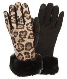 12 of Ladies Animal Leopard Print Touch Screen Glove With Cuff