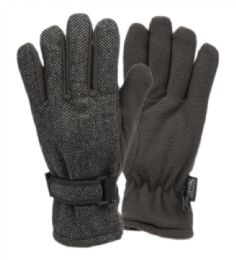 12 of Mens Wool Blend Glove With Thermal Fleece Lining In Grey