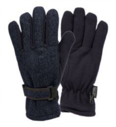12 of Mens Wool Blend Glove With Thermal Fleece Lining In Navy