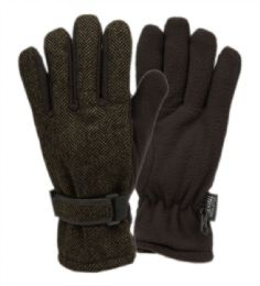 12 of Mens Wool Blend Glove With Thermal Fleece Lining In Olive