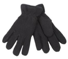 24 of Kids Winter Fleece Glove In Black