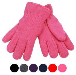 24 of Kids Winter Fleece Glove In Assorted Color