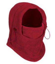 24 of Fleece Winter Flexible Mask In Red