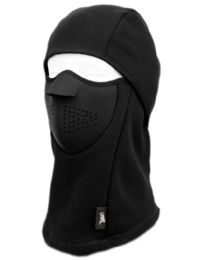 12 of Winter Face Cover Sports Mask With Front Foam And Warm Fur Lining In Black