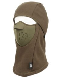 12 of Winter Face Cover Sports Mask With Front Foam And Warm Fur Lining In Olive