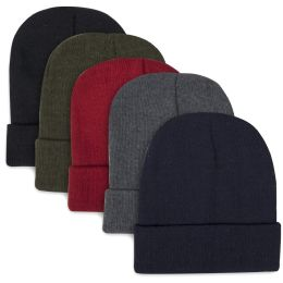 100 of Children Knit Hat Beanie 5 Assorted Colors