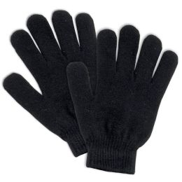 100 of Adult Knitted Gloves Black Only