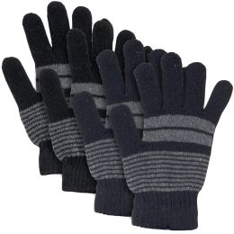 100 of Adult Knitted Gloves Striped Patterns