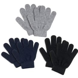 100 of Children Knitted Gloves 3 Assorted Colors
