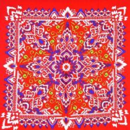 96 of Late Red Paisley Printed Cotton Bandana