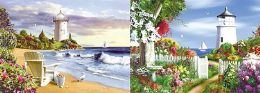 40 of 3D Picture Lighthouse With Flower Garden
