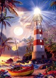 40 of 3D Picture Lighthouse and Boat
