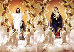 40 of 3D Picture Jesus With Angels Mary With Angels