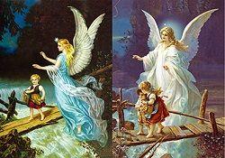 40 of 3D Picture Guardian Angel Children On Bridge