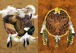40 of 3D Picture Dream Catcher With Eagle