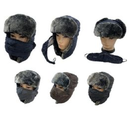 24 of Aviator Hat with Fur Trim and Detachable Mask