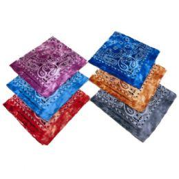 60 of Bandana Tie Dye Paisley Assortment