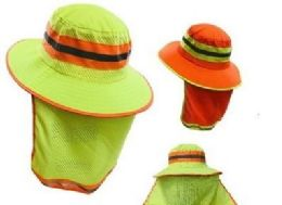 24 of Boonie Hat High Visibility Mesh Hat With Mesh Flap