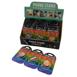 48 of Collapsible Phone Tablet Grip And Stand Rainbow Glitter