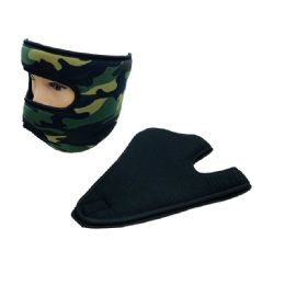 36 of Extra Warm Fleece Wrap Around Face Mask Black Camo