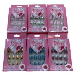 72 of Fashion Nails Miss Lucy Print Pink Package