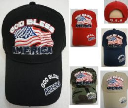36 of God Bless America With Flag Hat