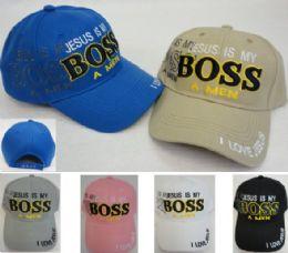 36 of Jesus is My Boss AMEN Ball Cap