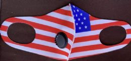 36 of USA Flag Face Cover With Valve