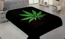 6 of One Ply Marijuana Leaf Graphic Queen Blanket