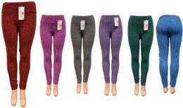 12 of Bright Color Leggings Assorted