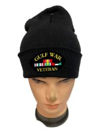 24 of Black Color Winter Beanie Gulf War Veteran