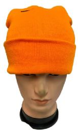 48 of Orange Color Winter Beanie