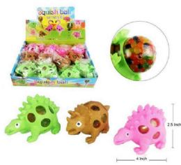 72 of Mesh Squish Ball With Water Beads Dinosaur