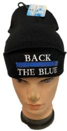 36 of Back the Blue Black Winter Beanie