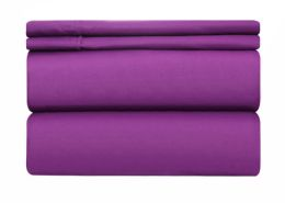 12 of Deluxe Hotel Quality Double Brushed Microfiber 4 Piece Set Full Size In Lavender