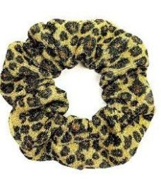 72 of Assorted Leopard Pattern Scrunchies