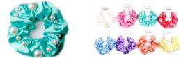 72 of Solid Color Scrunchies With Beads