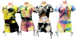 12 of Tie Dye Hoody With Shorts Set