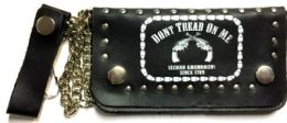 8 of Don't Tread On Me Biker Leather Wallet With Chain