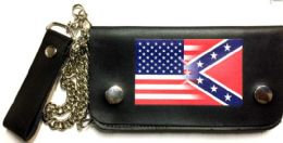 8 of USA Confederate Blended Leather Biker Wallet