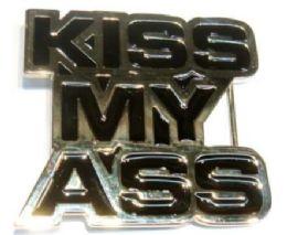 18 of Kiss My Ass Belt Belt Buckle