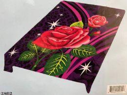 5 of Queen Size Rose Blanket